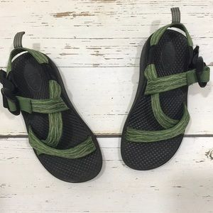 Chaco Green Strappy Sandals Youth Size 12